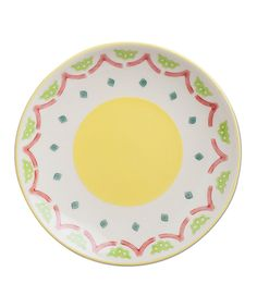 Another great find on #zulily! Yellow Tidbits Plate by tag #zulilyfinds