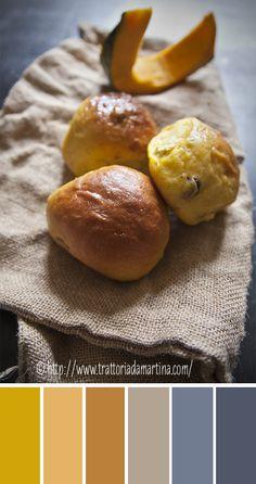 Il pan di zucca è una soffice briochina a cui la zucca conferisce un colore giallo oro intenso.