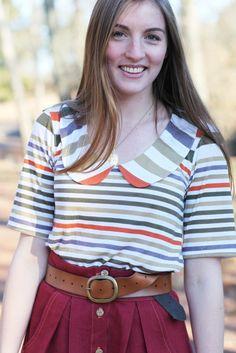 Tania+stripes+Megan's genius hand=a shirt I must have!