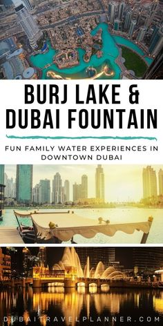 Not just the incredible evening fountain show on Burj lake; there are new family-friendly rides and features to enjoy on the Burj Lake during the day, at the foot of Burj Khalifa in Downtown Dubai. Check out timing, pricing and how to see these new attractions here | Dubai Travel Tips | Dubai Travel Planner Best Family Vacation Destinations, Middle East Destinations, Travel Destinations, Travel Tips, Dubai Vacation, Dubai Travel, Luxury Travel, Dubai Attractions, Visit Dubai