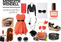 """Coral for the contest!"" by morganmiller69 ❤ liked on Polyvore"