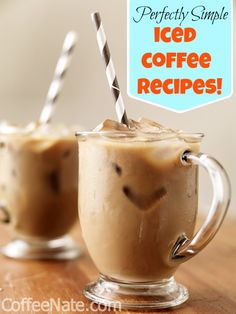 always have some iced coffee already made in the fridge for the summer around here.....these are some good recipes These iced coffee recipes are easy and so delicious!