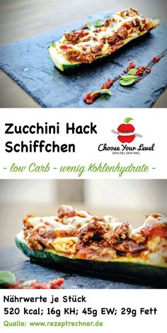 Stuffed zucchini with minced meat - Choose Your Level ™- Stuffed zucchini chop sticks – low carb dishes – chooseyourlevel recipe – CYL – low carb recipes stuffed zucchini – low carbohydrates Meat Recipes, Slow Cooker Recipes, Low Carb Recipes, Crockpot Recipes, Cooking Recipes, Lacto Vegetarian Diet, Vegetarian Recipes, Law Carb, Burger Meat