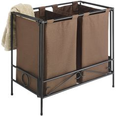 Sort dirty laundry in your bedroom or closet to make laundry day a breeze with this Double Laundry Hamper.