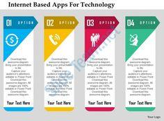 internet based apps for technology flat powerpoint design Slide01