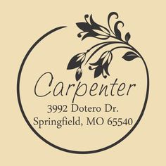 Custom Address Rubber Stamp Carpenter Design by BearRubberStamps, $18.00