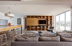 我們看到了。我們是生活@家。: 澳洲Bronte Beach旁的公寓,來自Tribe Studio Architects