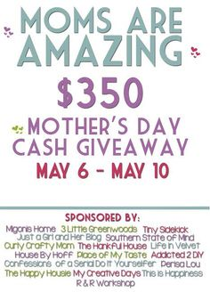 $350 Mother's Day Cash Giveaway | Life in Velvet