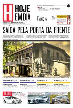 Capa do dia 07/05/2016 #HojeEmDia #Jornal #Notícias #News #Newspaper