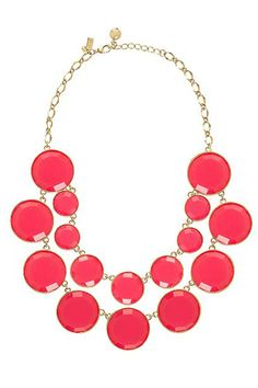 Kate Spade Baublebox Bib Necklace, $278, available at Kate Spade, 135 5th Avenue (between East 20th and 21st streets); 212-358-0420.