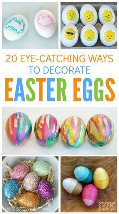 20 Eye-Catching Ways to Decorate Easter Eggs - Awesome egg decorating ideas to make Easter more fun and creative!