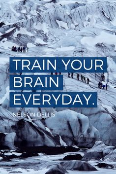 """""""Train your brain everyday."""" - USA Memory Champion Nelson Dellis on the School of Greatness podcast Startup Quotes, Career Quotes, Entrepreneur Quotes, Business Quotes, Great Quotes, Inspirational Quotes, Motivational, Brain Memory, Wealth Quotes"""