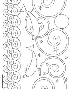 Lots of free coloring pages and original craft projects, crochet and knitting patterns, printable boxes, cards, and recipes. Dolphin Coloring Pages, Summer Coloring Pages, Coloring Pages To Print, Free Coloring Pages, Coloring For Kids, Printable Coloring Pages, Coloring Sheets, Coloring Books, Craft Patterns