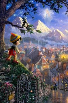 Thomas Kinkade's expanding relationship with Disney has been nothing short of fabulous. When Thom was asked to paint the Sleeping Beauty's Castle at Disneyland for their anniversary, a new era in Thomas Kinkade fine art was established. Thomas Kinkade Disney Puzzles, Thomas Kinkade Art, Disney Fine Art, Disney Fun, Kinkade Paintings, Dibujos Tumblr A Color, Pinturas Disney, Disney Paintings, Disney Phone Wallpaper