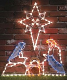 Outdoor christmas nativity scene great source of inspiration for amazon miles kimball lighted outdoor nativity scene with star home improvement aloadofball Gallery