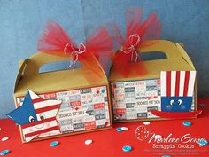 ScrappinCookie - July 4th Gable Boxes.  SVG Cutting Files Kawaii July 4th Patriotic.  Jaded Blossom Spring Signs 2 Stamp Set.