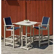 Coastal Sling Collection 3-Piece Outdoor Bar Set PWS-156-1