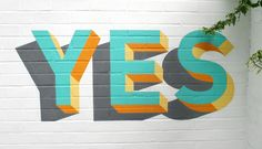 "visualgraphc:  ""YES by Russell Hardman on the Southbank Centre Tribute  """