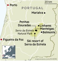 Summits of the Serra da Estrela in Portugal