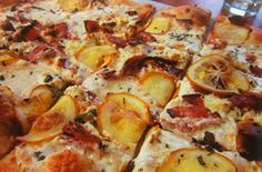 Caramelized-Garlic Tart with Roasted Meyer Lemon and Bacon #Recipe | Carefree Cooking Magazine