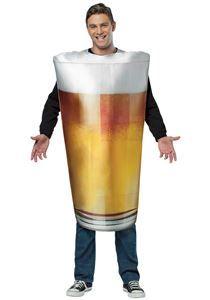 Get Real Beer Pint Adult Mens Costume - 268969 | trendyhalloween.com #oktoberfest #beercostumes #pint #mesncostumes