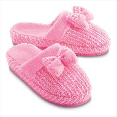 Pretty Pink, fuzzy slippers by Victoria's Secret