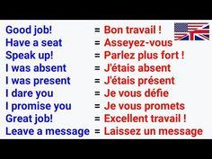 French Language Basics, French Language Lessons, French Lessons, English Lessons, Learn English, French Sentences, French Phrases, French Quotes, Learn French Beginner