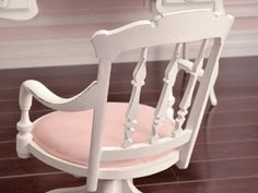shabby chic office chairs. Shabby Cottage Chic White Pink Linen Office Swivel Chair French Vintage Style Chairs G