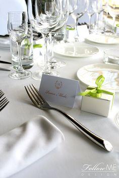 Winietki / Podziękowanie dla gości / Eleganckie białe dekoracje ślubne od FollowMe DESIGN / Wedding Place Card / Wedding Favors / Elegant White Wedding Decorations & Details by FollowMe DESIGN