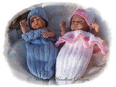 Cocoon & Slouchy Beanie Patrón 12.9 pulgadas muñecas-capullo, modelo que hace punto
