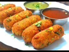 Crispy Corn Kebabs   Instant Snacks Recipe   Best Indian Appetizer Recipe   Kanak's Kitchen - YouTube