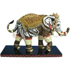 4-5-Inch-Zebra-Rings-Decorated-Elephant-Collectible-Figurine