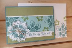 Stampin' Up card made using Stamps and punch from ' Beautiful Bunch' range.