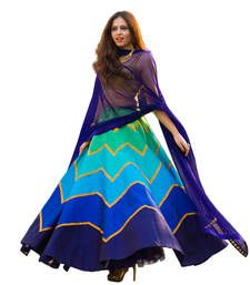 Buy multi embroidered lehenga choli with dupatta for women lehenga-choli online