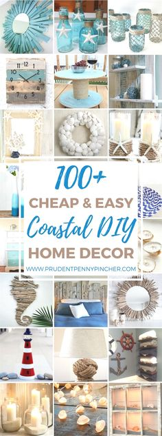 Here is a round up of the best cheap and easy coastal DIY home decor projects on the internet so that you can bring some of the beach to your home. I live in Florida so I am able to find many of the supplies for these DIY projects like shells, sand and wood for … #decoration
