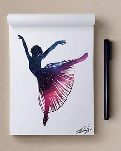 ballerina - Stars Themed Illustrations by Muhammed Salah  <3 <3