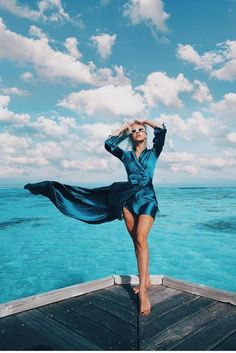 Blue Skies Forever 💙 Lensed by aloonite 💙 Yellow Dress, Gray Dress, Ruffle Dress, Pink Dress, Blue Dresses, Cover Up, Turquoise, Sleeves, Blue Skies