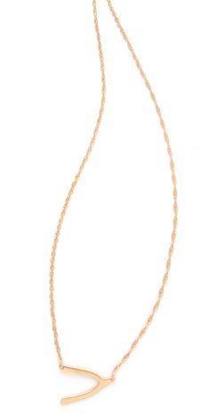 Jennifer Zeuner Jewelry Mini Wishbone Necklace