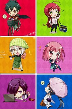 The devil is a Part timer! Chibis are so cute!!!!