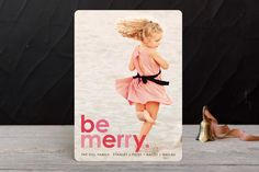 Cherry Merry Holiday Photo Cards by design market at minted.com