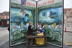 Hi Snow White!Your dress is so cool:), My Giant Fairy Tale Book in Hungary, GYőr Minden, Hungary, Fairy Tales, Snow White, Books, Dress, Painting, Art, Bulgaria