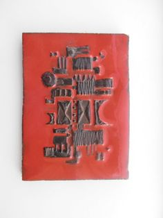 Unusual Amphora / perignem ceramic tile by Veryodd on Etsy, $75.00