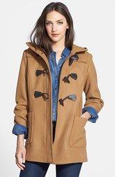 Pendleton Hooded Wool Blend Duffle Coat (Regular & Petite)