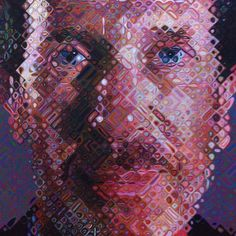 Chuck Close, no Centre Georges Pompidou, Paris.