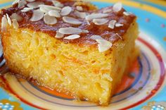 Clementine Syrup Cake, Clementine Syrup Cake Recipes, Clementine Syrup Cake with Phyllo Pastry Syrup Cake, Cake Recipes, Dessert Recipes, Greek Sweets, Mediterranean Recipes, Greek Recipes, Vanilla Cake, Deserts, Good Food