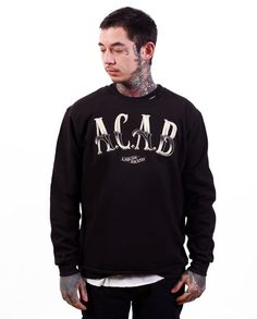 Liquor Brand Herren ACAB1 Pullover.Tattoo,Biker,Rockabilly,Custom,Oldschool Styl