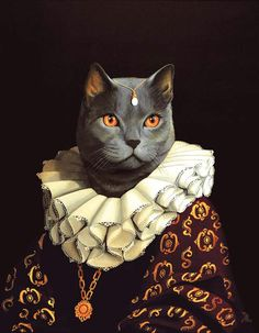 =^. ^= Cat Art =^. ^= ❤ ...By Artist Unknown...
