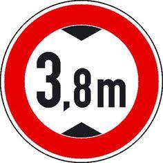 Verkehrszeichen / Verkehrsschilder - StVO Verbot für Fahrzeuge über bestimmter Höhe
