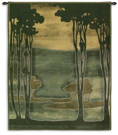 Nouveau Trees Wall Tapestry by Jennifer Goldberger at Art.com