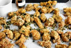 salty crispy chicken poppers